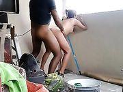 Amatör sex på balkongen med en mexikansk par